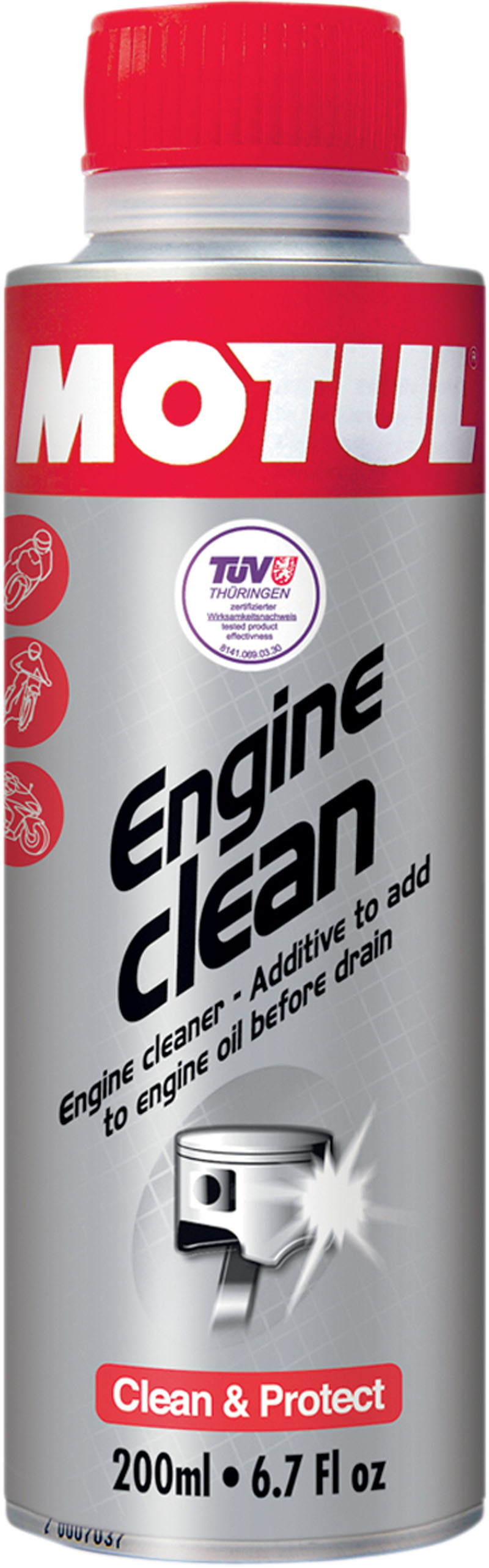 MOTUL ENGINE CLEAN MOTO 6 7 OZ (#102177) (3704-0006) by