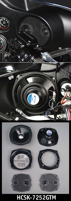 "J&M Performance Series 7.25"" Fairing Speaker kit 06-12 Street/Ultra/ElectraGlide"