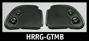 J&M Fairing Speaker Grill-Set (ONLY) 98-12 Harley RoadGlide - Black Tweeters