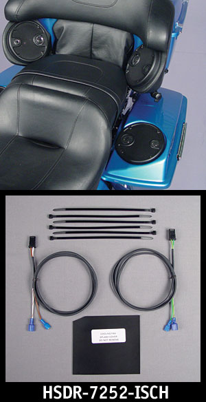 J&M REAR Speaker In-Series Wiring kit 06-12 Harley w/Pods & Bags Spkrs