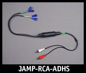 J&M Isolated RCA Input Amplifier Adapter Harness for Harley HK Radio