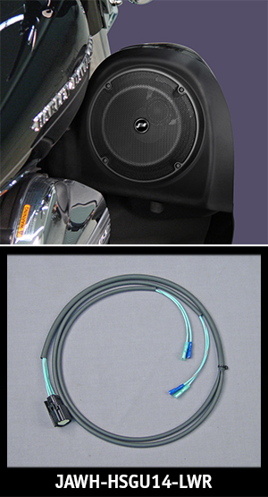 J&M ROKKER Lower Fairing Speaker Wire Harness 2014-17 Harley Baggers