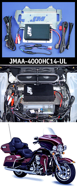J&M Performance Series 400w RMS 4-Ch Amplifier Kit for 14-UP Ultra or Ultra Ltd.