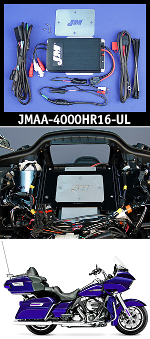J&M Performance Series 400w RMS 4-Ch Amplifier kit for 16-UP RoadGlide Ultra