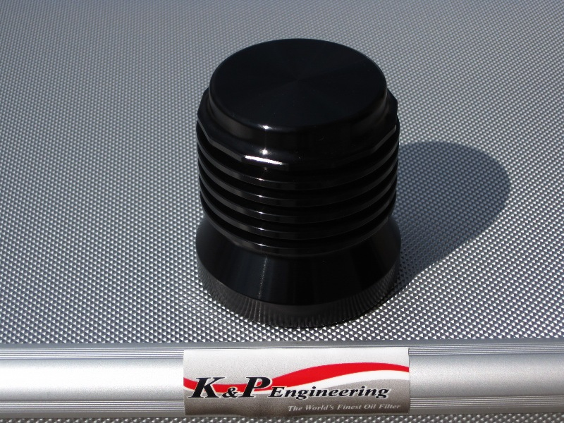 K&P Stainless Steel Micronic Oil Filters  - 82-UP Harley-Davidson - S4 - Anodized