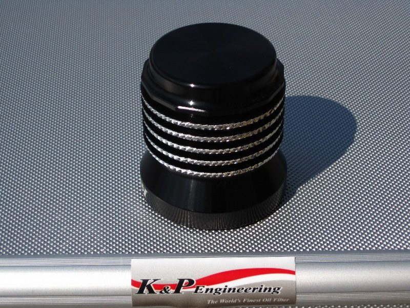 K&P Stainless Steel Micronic Oil Filters  - 82-UP Harley-Davidson - S4 - Anodized w/ Diamond Cut