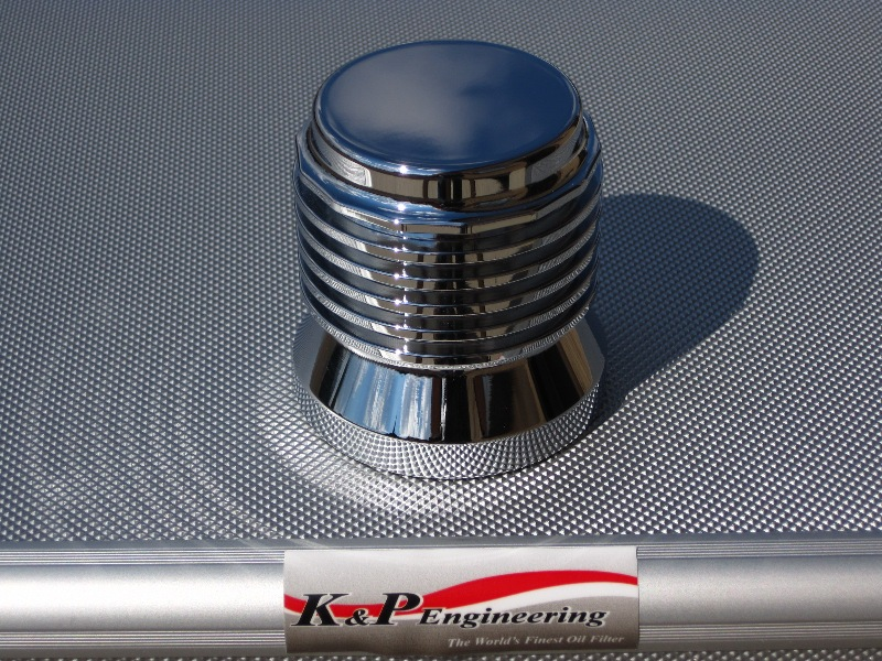 K&P Stainless Steel Micronic Oil Filters  - 82-UP Harley-Davidson - S4 - Chrome