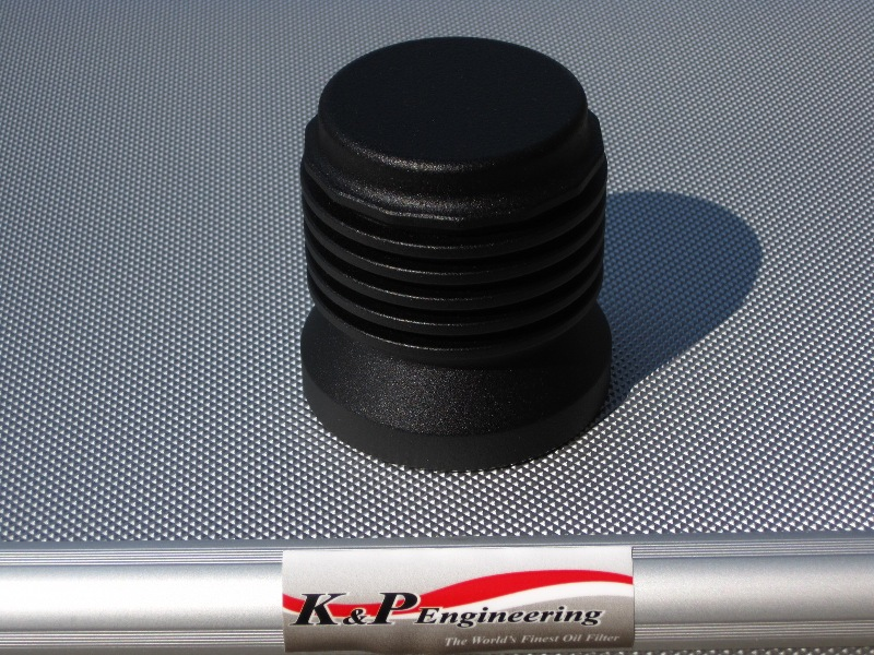 K&P Stainless Steel Micronic Oil Filters  - 82-UP Harley-Davidson - S4 - Powder Coated