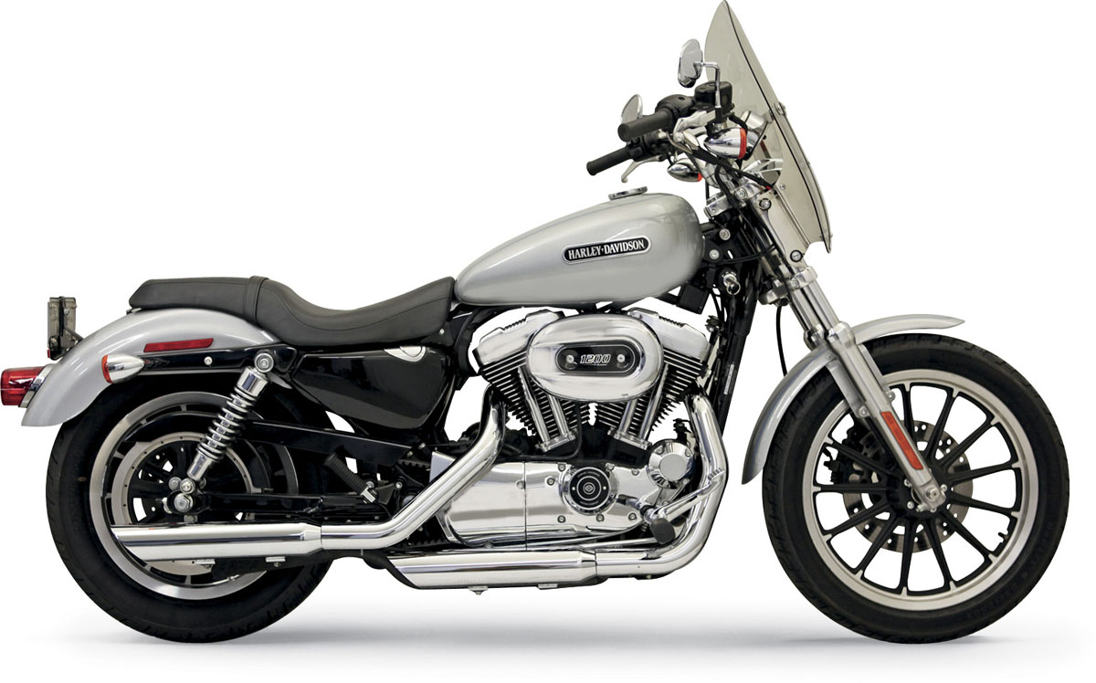 "Bassani 3"" Firepower Series Slip-on Exhaust - Slash-down - 04-13 XL"