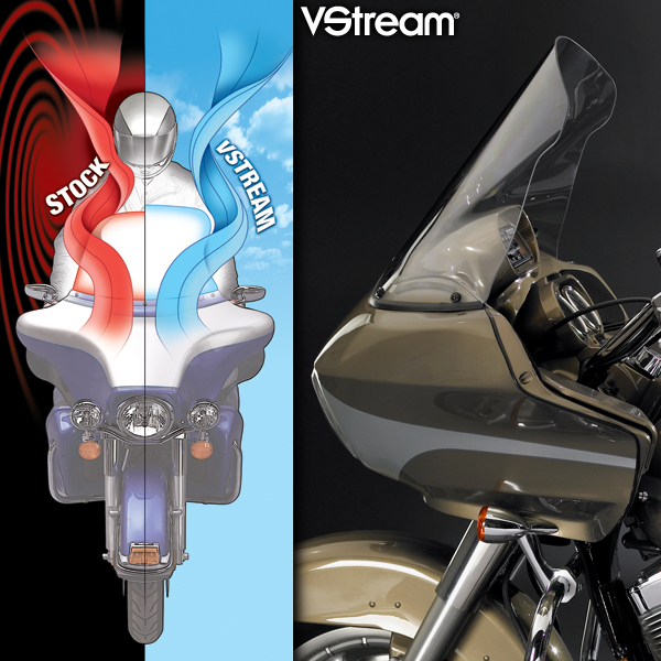 National Cycle VStream Windshield - Clear 18 - 98-13