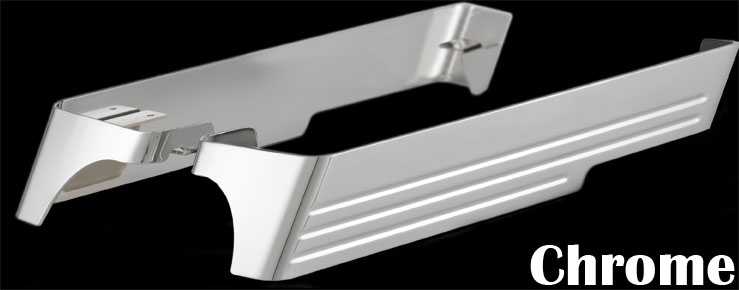 CycleSmiths Billet Saddlebag Extensions - Chrome - for Dual Exhausts