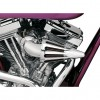 D&M Custom Cycle - The Bullet Air Cleaner - Chrome Elbow & Chrome Cone - 90-16 Twin Cam