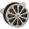 HardDrive Custom Billet Air Cleaner Assembly - Luck - Chrome - 08-UP Touring