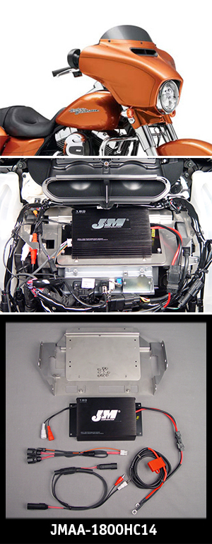 J&M Performance Series 180w 2-ch Amp kit 2014 Harley StreetGlide/Ultra