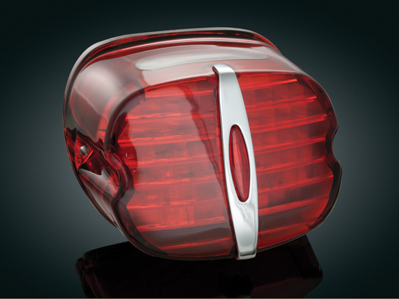 Kuryakyn 5432 LED Taillight Conversion - Red Deluxe