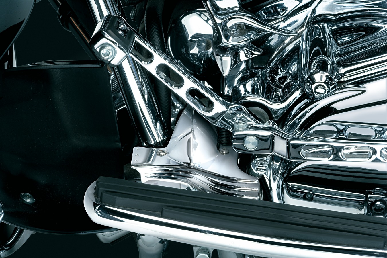 Kuryakyn Lower Front Frame Cover - Chrome - 91-16 Touring (7772) by  Kuryakyn - Direct Cycle Parts -