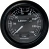Legend Fairing Mounted LED Backlit PSI Gauge - Black w/ black face