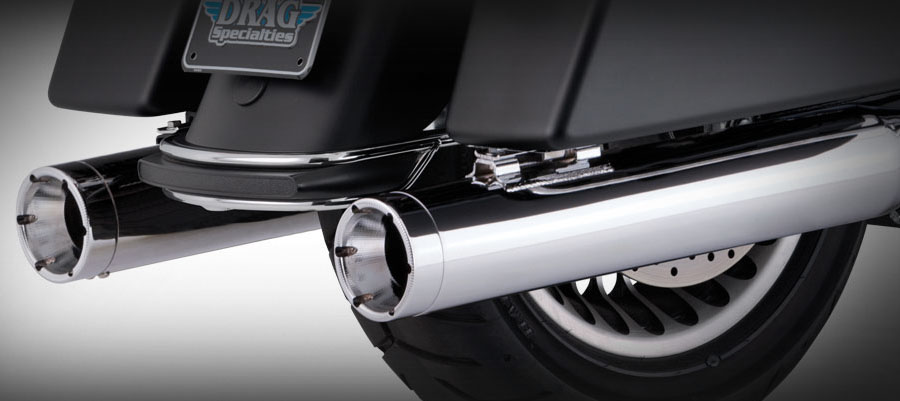 Vance & Hines Monster Rounds Slip-on Mufflers - Chrome - 95-16 Touring