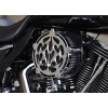 Precision Billet Air Cleaner - Ace's Wild - Chrome - 08-13 Touring