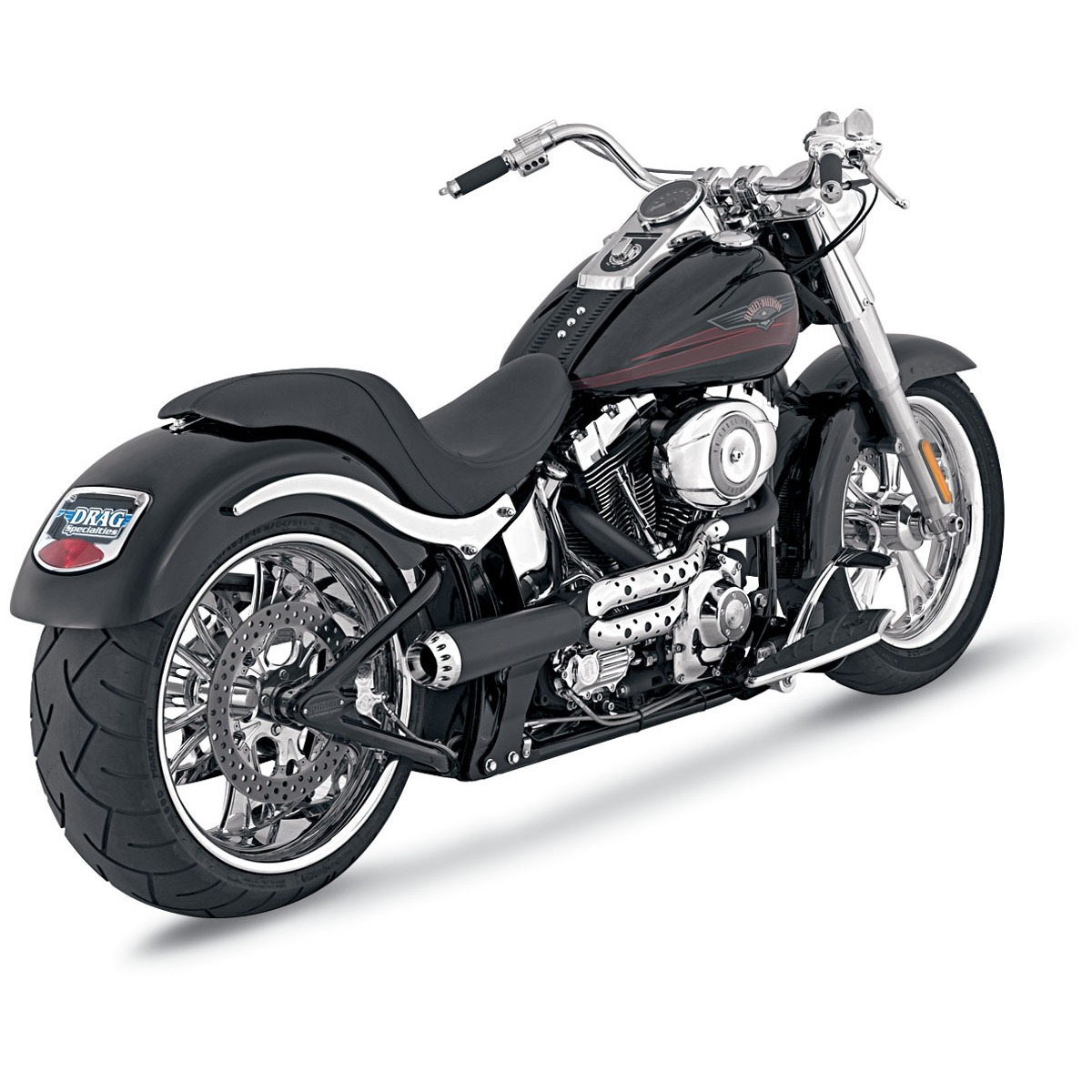 Vance & Hines - RSD:Roland Sands Design - Tracker 2-into-1 - 86-11 Softail