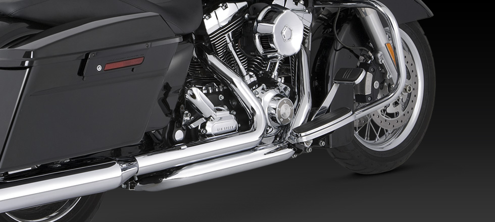 Vance & Hines Dresser Duals - Chrome - 09-UP Touring & CVO (12mm & 18mm o2 bungs)