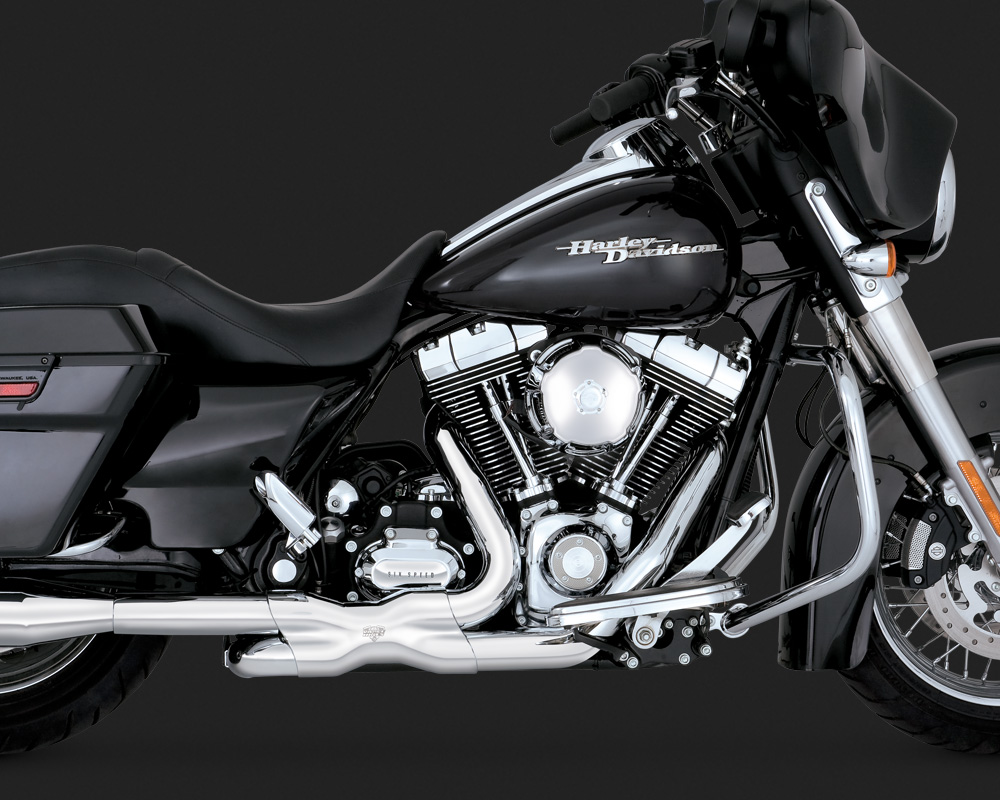 Vance & Hines Power Duals - Chrome - 09-16 Touring & CVO (12mm & 18mm o2 bungs)