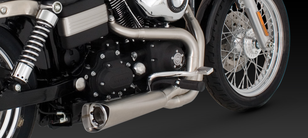 Vance & Hines Competition Series 2-into-1 - Stainless - 06-14 Dyna