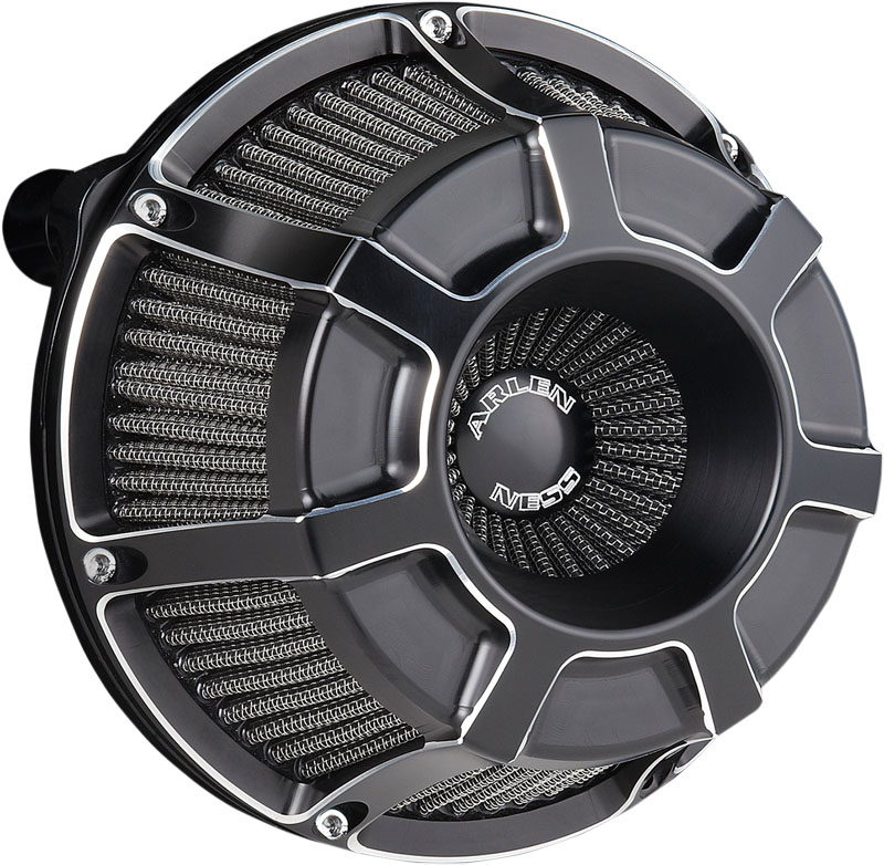Arlen Ness Inverted Series Air Cleaner Kit - Beveled - Black - 08-17 Fly by Wire