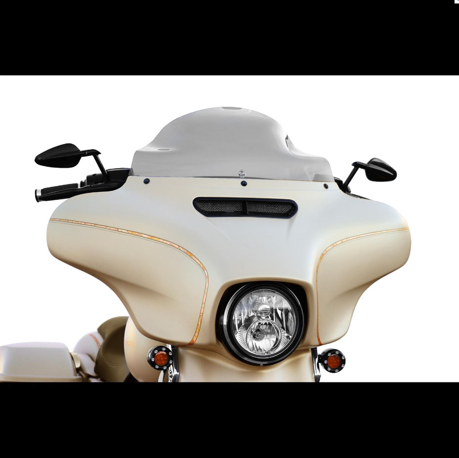 "Klock Werks Flare Windshield for 2014+ Harley Touring - 8.5"" Dark Smoke"